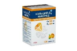 КАЛЬЦИЙ-Д3 НИКОМЕД табл. жев.   120 апельсин